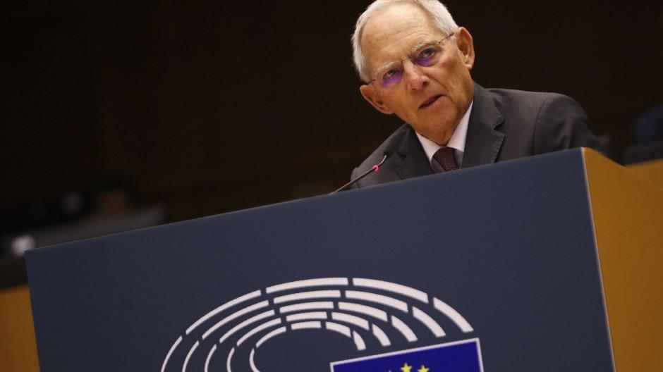 Wolfgang Schäuble im November 2019 im Europaparlament