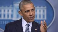 Obama will Nato-Partnern Angst vor Trump nehmen