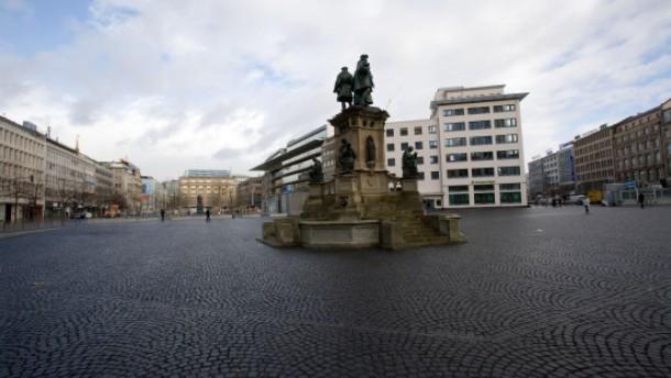 Der öffentliche Raum ist grau