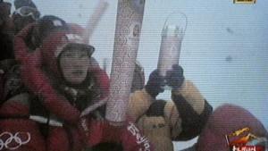 Olympische Flamme erreicht Gipfel des Mount Everest