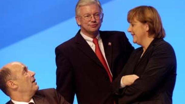 Hessens CDU-Delegierte finden höfliche Worte für Angela Merkel