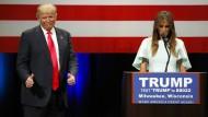 Melania Trump erstmals auf der Wahlkampfbühne
