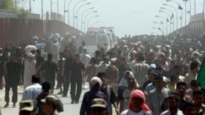 bfb pilger Krankenwagen vor der Tigrisbrücke