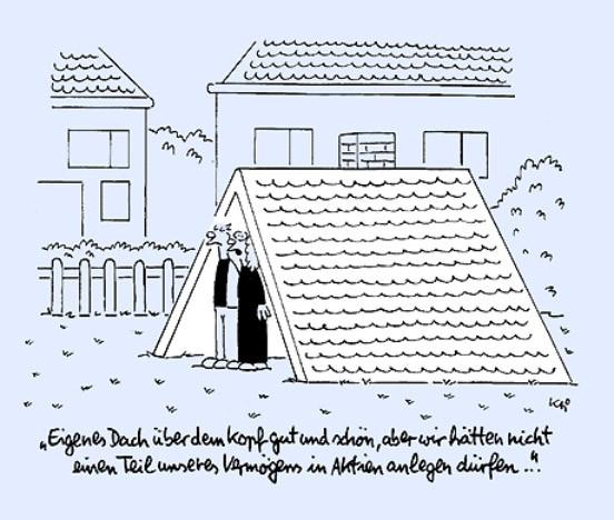 Hausbau karikaturen  Bild zu: Die Vermögensfrage: Eigenheime sind zur Zeit eine ...