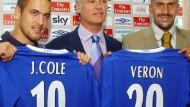 Nur zwei von sieben Millioneneinkäufen: Cole und Veron (r.)