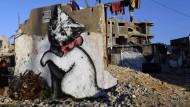 Banksy hinterlässt Spuren im Gaza-Streifen