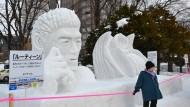 Kunstvolles Schneefigurenfestival in Japan gestartet