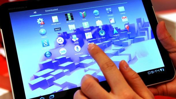 Motorola tablet mit google betriebssystem android