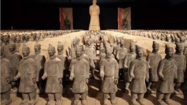 Eine der Messe-Attraktionen: 1500 Miniatur-Infanteristen aus China