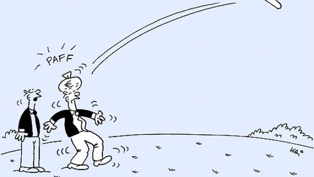 Karikatur / Finanzmarkt / Wenigstens hat es etwas abgeworfen