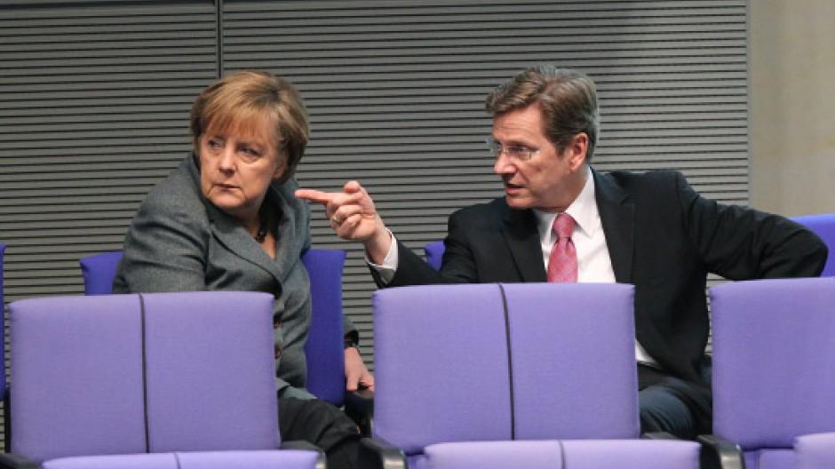 Mahnung zur Vorsicht: Westerwelle warnt Merkel vor dem Einstieg in eine Transferunion