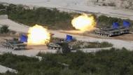 Südkorea und Amerika proben Kriegsmanöver