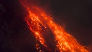 Vulkan Sinabung hinterlässt ein Land voller Asche