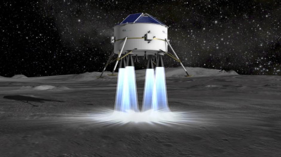 So könnte das Mondlandefahrzeug aussehen: Computergenerierte Studie von EADS Astrium