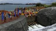 Der Panama-Kanal wird geflutet