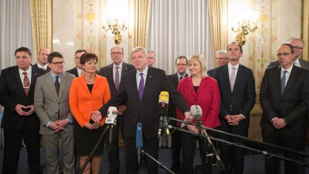 Bouffier stellt seine Minister vor