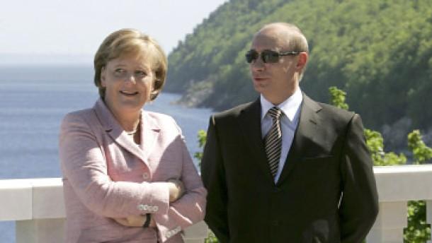 Dissens zwischen Merkel und Putin