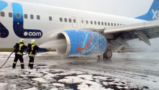 Deutsche Boeing 737 in Belgrad notgelandet