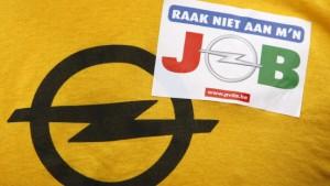 Opel-Mitarbeiter demonstrieren in Antwerpen