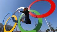 Beste Laune im Olympischen Park von Rio