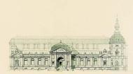 Barockschloß und Stadtturm: Alfred Messels Fassadenentwurf