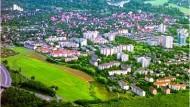 Luftaufnahme der Hanauer Weststadt