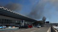 Flughafen Rom geschlossen