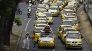 Proteste gegen Uber in Mexiko und Kolumbien