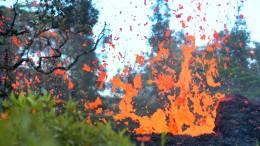 Und plötzlich ist da Lava im Garten