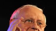 Kanzelte Bartsch ab: Oskar Lafontaine beim saarländischen Neujahrsempfang in Saarbrücken