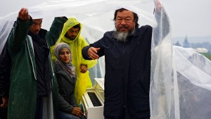 Kunstaktion von Ai Weiwei im Flüchtlingslager Idomeni