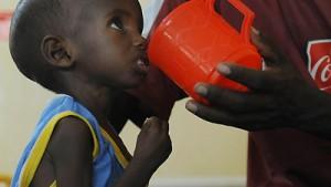 Sterbequote bei unterernährten Kindern steigt