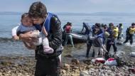 Syrischer Flüchtlingsansturm auf Lesbos