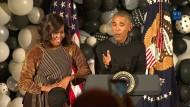Barack und Michelle Obama tanzen zu Michael Jacksons Thriller
