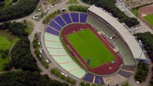 Neue Arena Gelsenkirchen im Bau