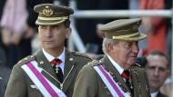 Spaniens König und Kronprinz bereiten Thronwechsel vor