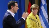 Merkel und Tsipras wollen Differenzen überwinden