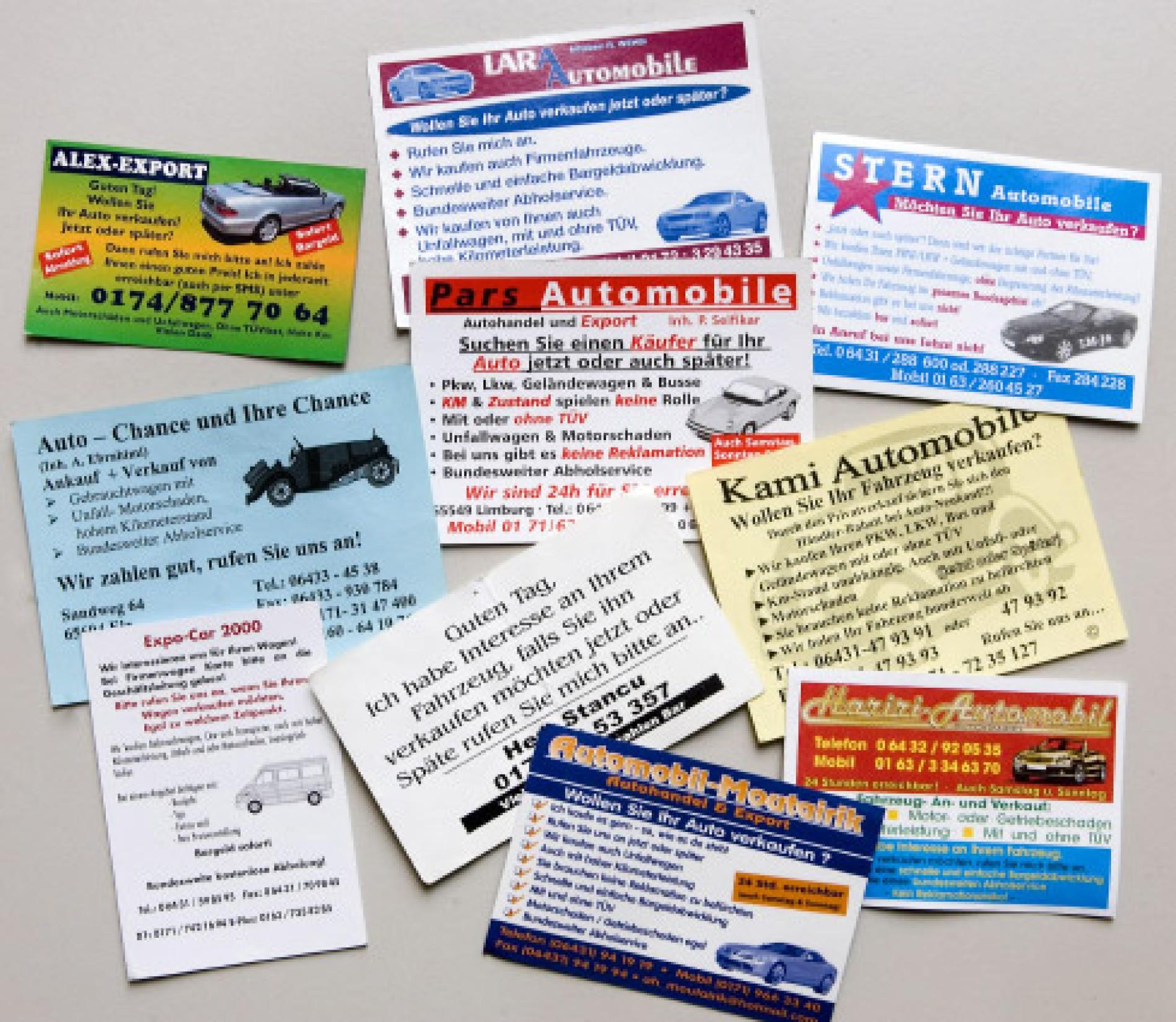 Gebrauchtwagenhändler Wir Zahlen Bar Kriminalität Faz