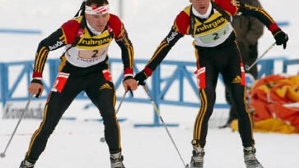 Deutsche Staffel auf dem dritten Platz