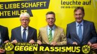 Innenminister de Maiziére lobt BVB für Kampf gegen Rechtsextremismus