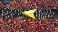 Massendemonstration für ein unabhängiges Katalonien