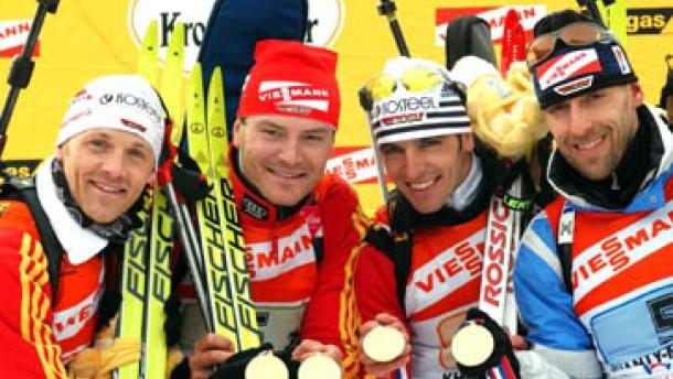 Deutsche Biathlon-Staffel gewinnt Gold