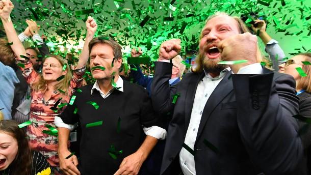 So jubeln die Grünen über ihren Wahlerfolg
