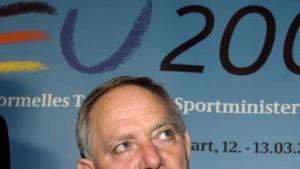 Schäuble will vernetzte Dopingbekämpfung