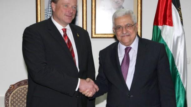 Bundesentwicklungsminister Dirk Niebel in Ramallah