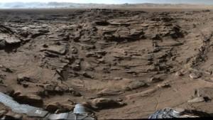Panorama-Foto vom Roten Planeten