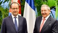 Hollande trifft Raúl und Fidel Castro in Kuba