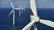 Aufbau eines Windparks