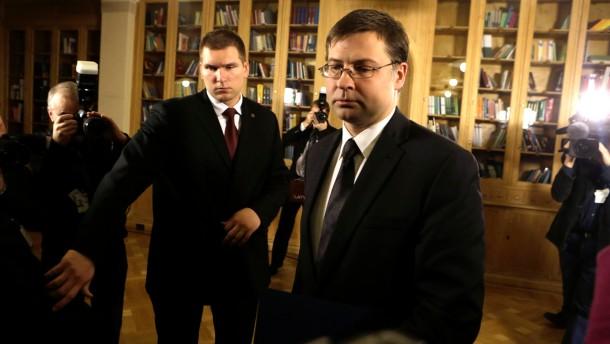 Lettischer Ministerpräsident tritt zurück