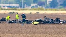 Spanisches F-18-Kampfflugzeug stürzt bei Start ab
